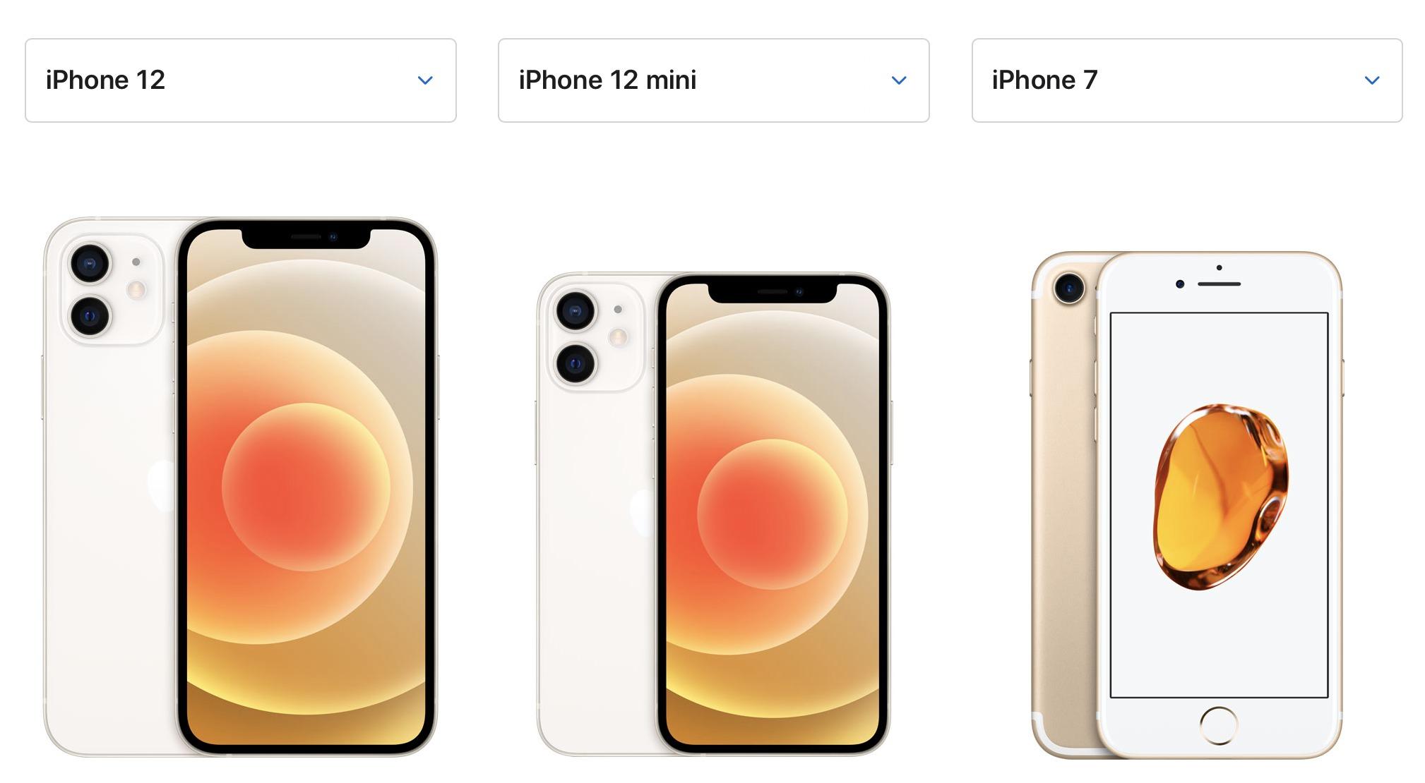 iphone7とiphone12の大きさ